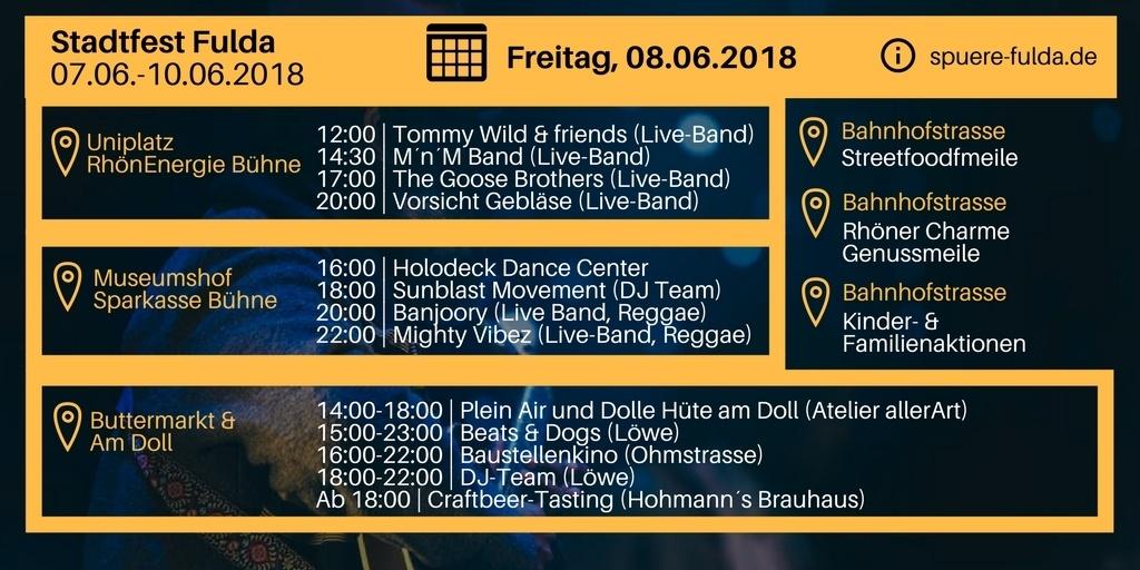 Stadtfest Fulda 2018 vom 07.06.2018 bis 10.06.2018