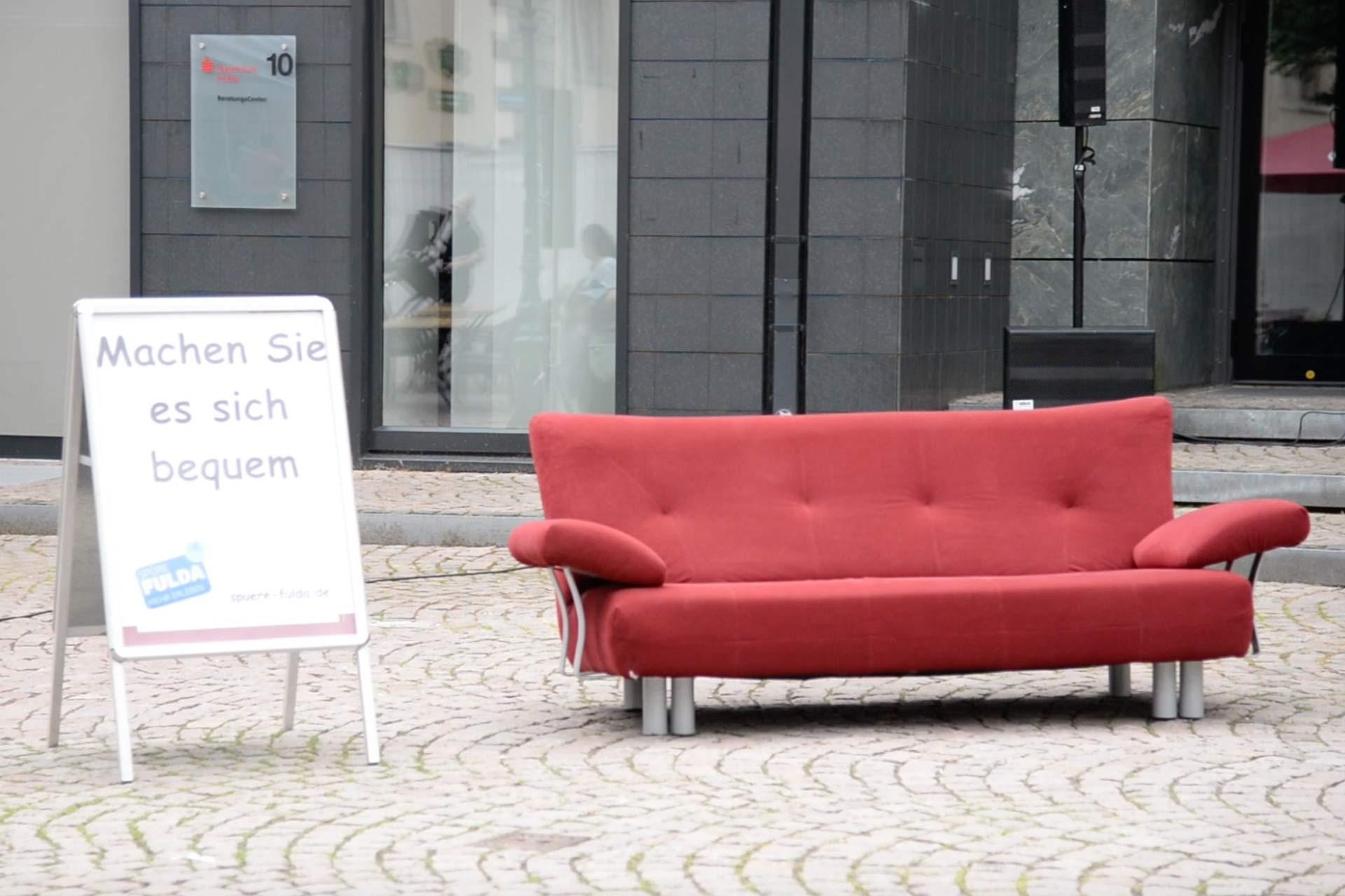 Rotes Sofa Fulda Die Live überraschungsaktion In Der City Am 020618
